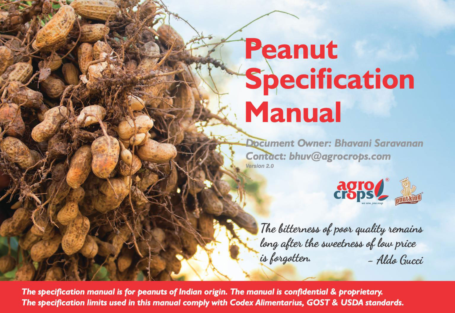 Peanut Manual