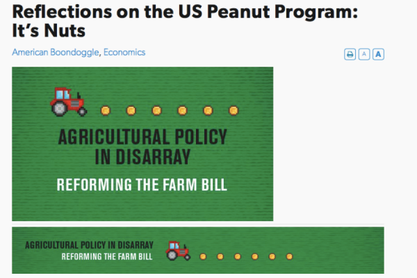 Reflections on the US Peanut Program: It's Nuts