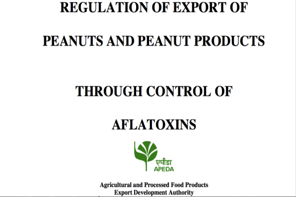 Regulation of Export of Peanuts and Peanut Products