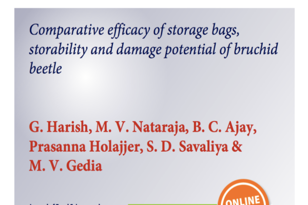 Comparative Efficacy of Storage Bags, Storability and Damage Potential of Bruchid Beetle