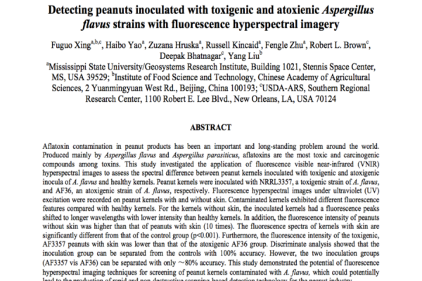 Detecting Peanuts Inoculated  with Toxigenic and Atoxienic  Aspergillus Flavus  Strains with Fluore
